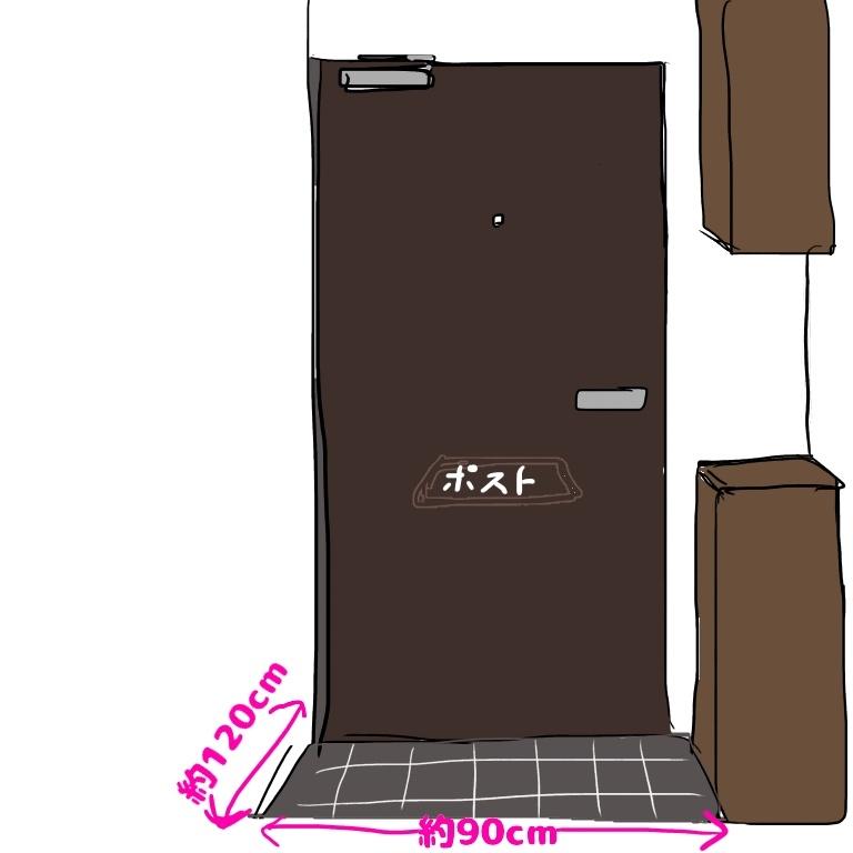 狭い玄関イラスト