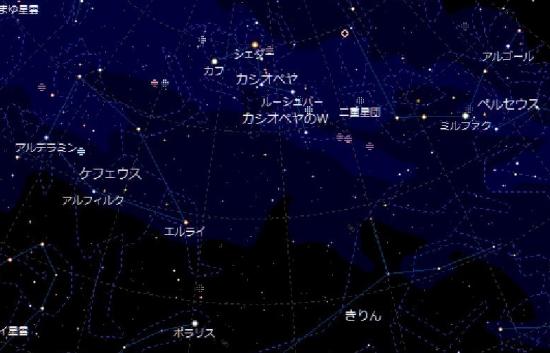 00-○ 20181111 星座確認図-カシオペア ポラリス