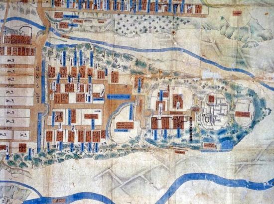 飯田城の最古の絵図-脇坂氏時代のコピー