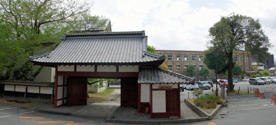 00-panorama 20190426 飯田城赤門001