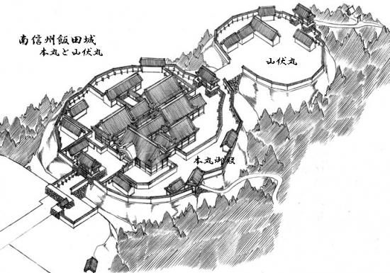 00-飯田城の復元illustのコピー