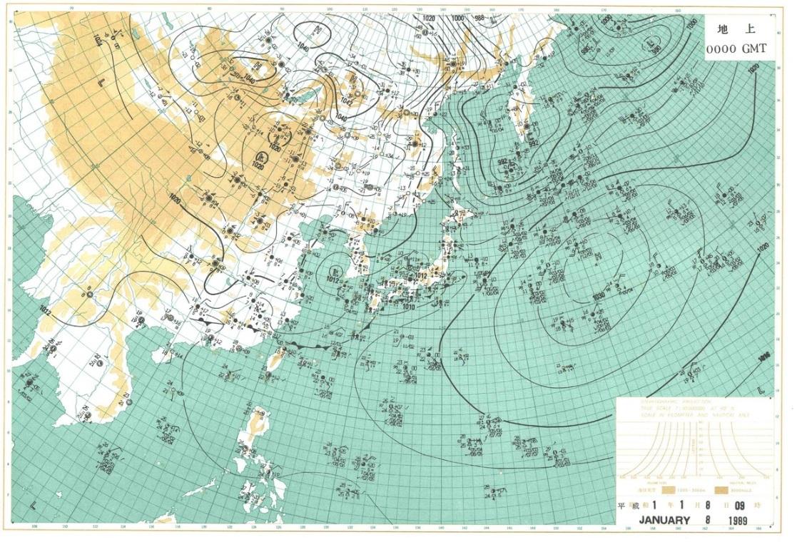 1989010809天気図