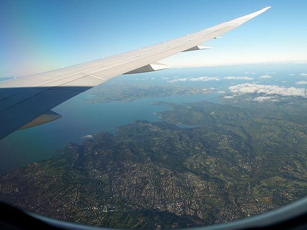 ニュージーランド北島上空