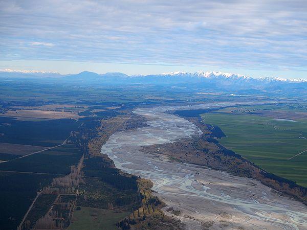 ニュージーランド航空からの景色