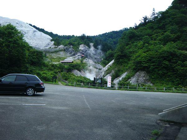川原毛大湯滝の駐車場