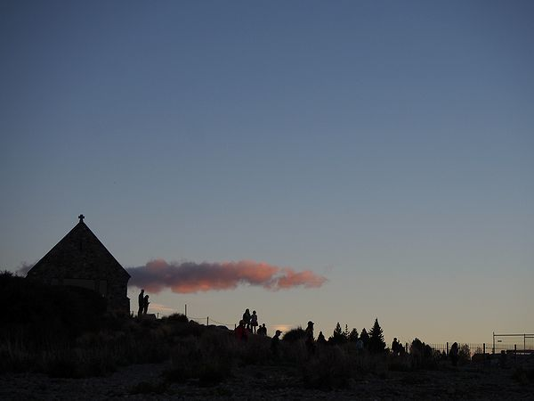 夕暮れの善き羊飼いの教会