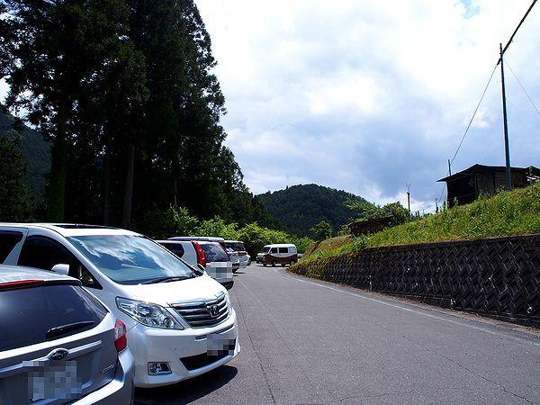四谷の千枚田の駐車場