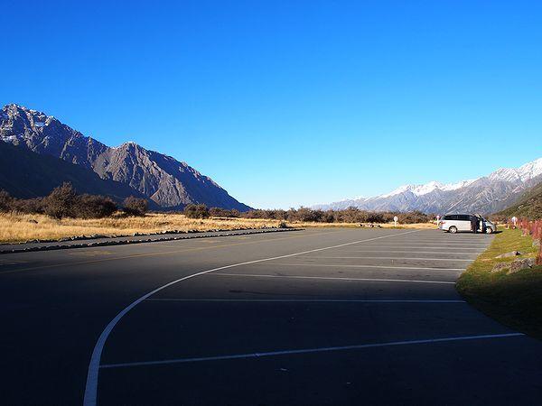 タスマン・バレー・ウォークの駐車場