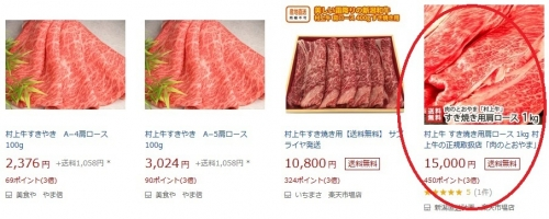 ふるさと納税2019 新潟県村上市 村上牛すき焼き用 追加4-3