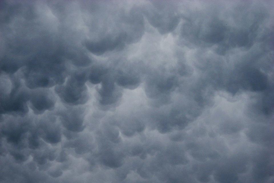 オーソドックスな乳房雲