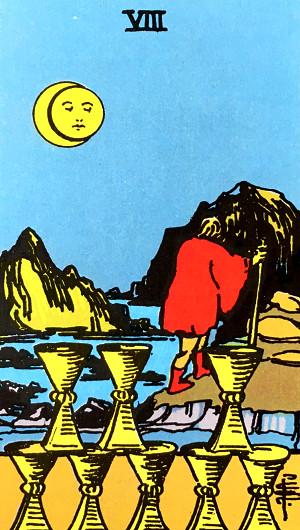 タロットカード『カップの8』 by占いとか魔術とか所蔵画像