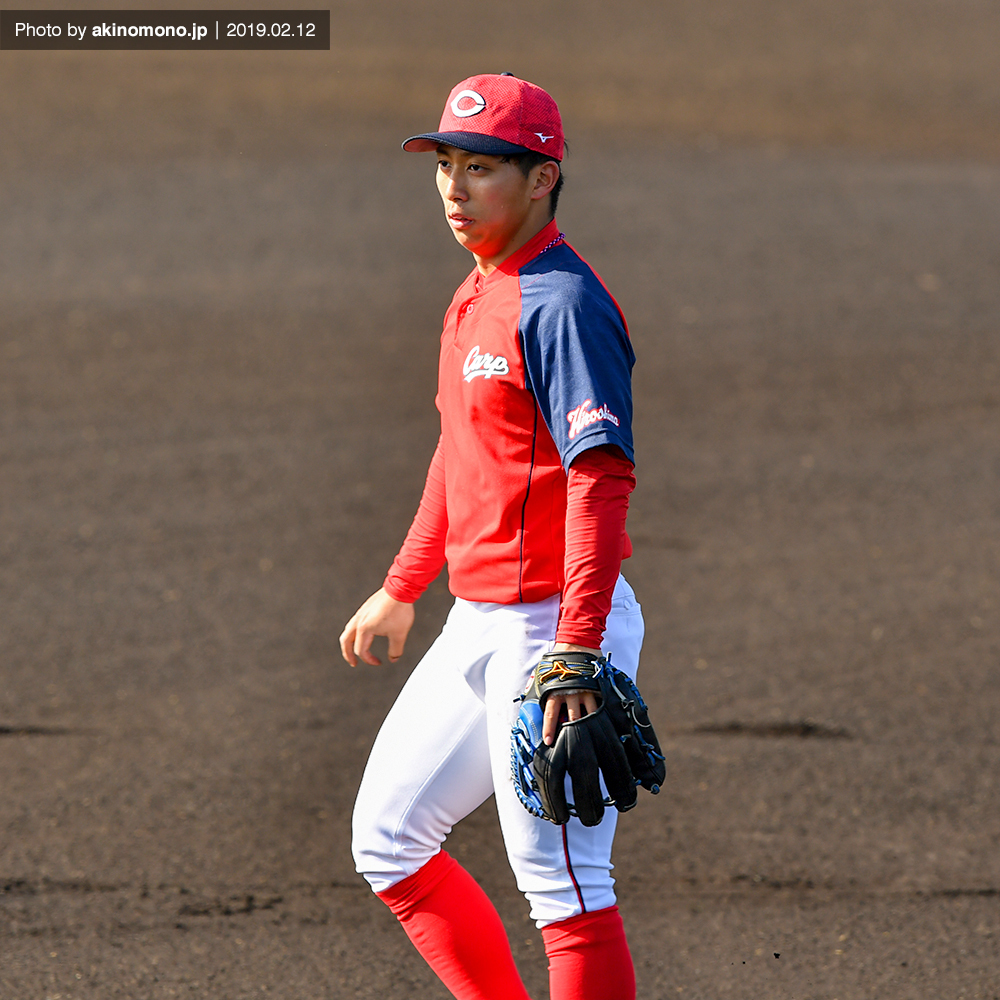 練習中の羽月隆太郎選手(春季日南キャンプ2019)