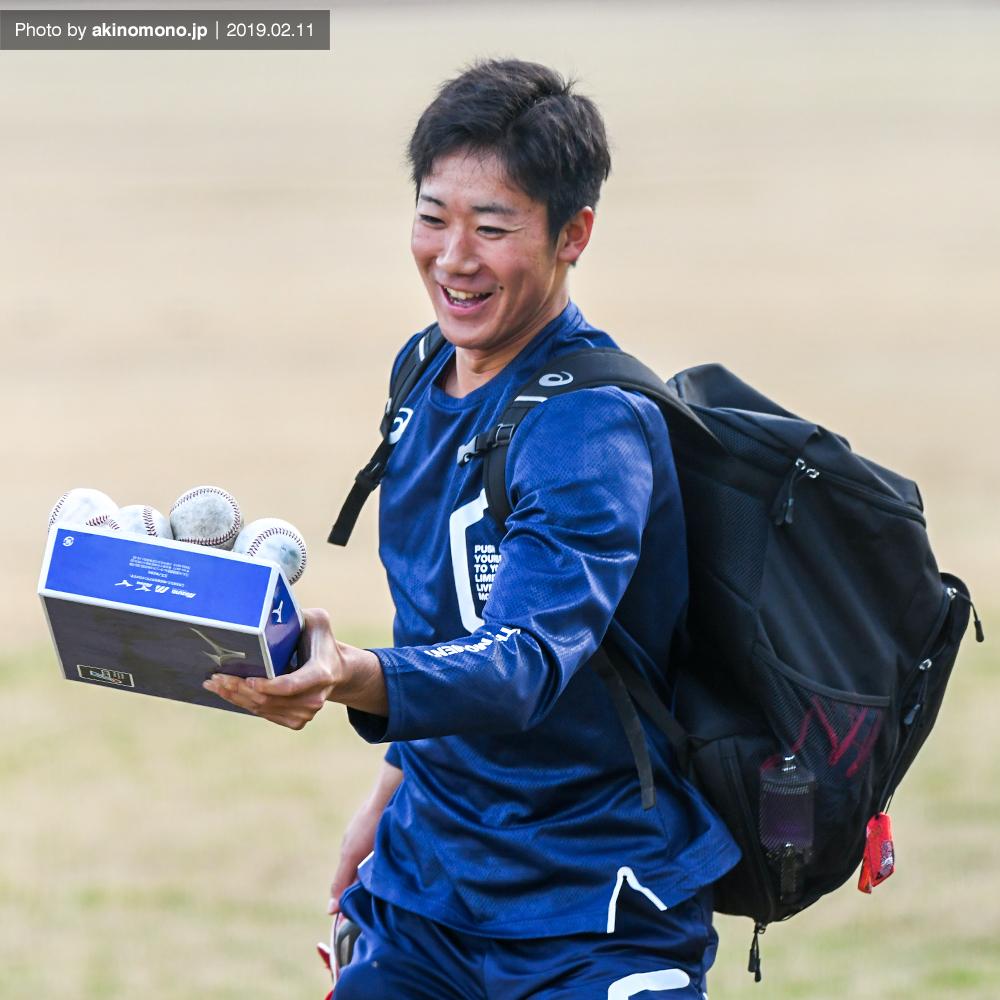 春季日南キャンプでの山口翔投手(2019年)