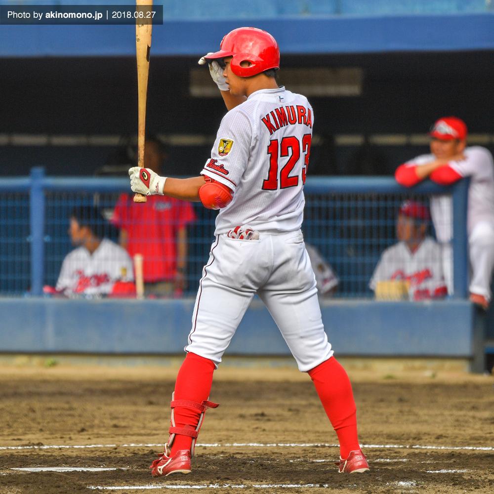 打席に立つ木村聡司選手(2018)