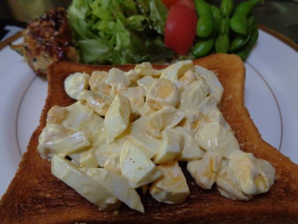 4/30家食・ゆで卵のオープントースト