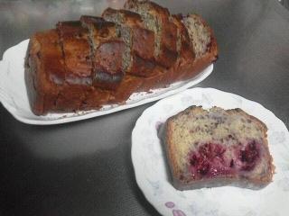 190609 ブラックベリーでパウンドケーキ
