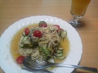 190531 糠漬け野菜のカッペリーニ