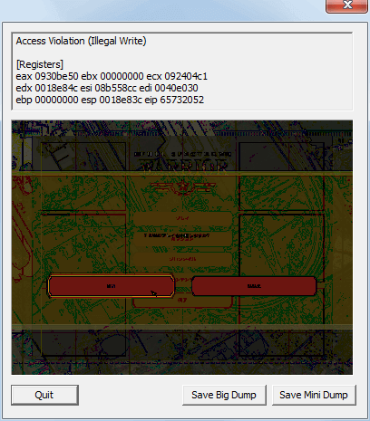 PC ゲーム Full Spectrum Warrior 日本語化とゲームプレイ最適化メモ、Access Violation (Illegal Write) エラー対策