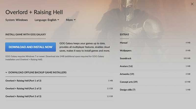 PC ゲーム Overlord、拡張パック Overlord Raising Hell 日本語化メモ、GOG 版 Overlord + Raising Hell 日本語化可能