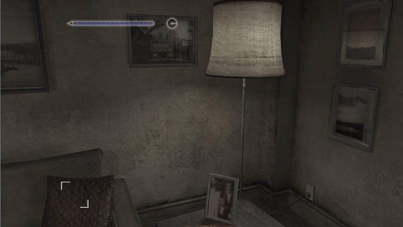 サバイバルホラーアドベンチャー PC ゲーム SILENT HILL 4 THE ROOM ゲームプレイ最適化メモ、自室内の光源が正常に表示されている通常のゲーム画面状態
