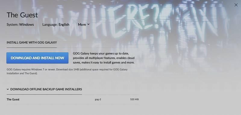 PC ゲーム The Guest 日本語化メモ、GOG 版 The Guest 日本語化可能