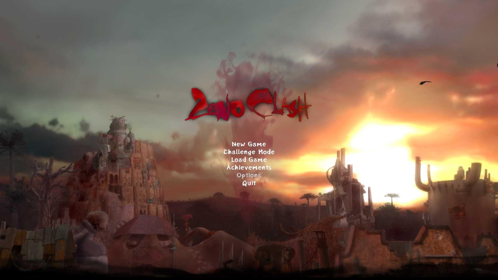 PC ゲーム Zeno Clash 日本語化メモ、ゲームを起動して Options をクリック