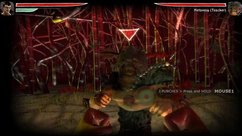 PC ゲーム Zeno Clash 日本語化メモ、日本語化した Zeno Clash ゲーム画面、チュートリアル画面では一部英語表示のまま