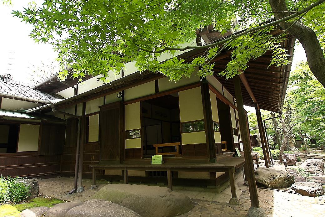 主屋の杉の間を中心とした部分を外側から見る_1