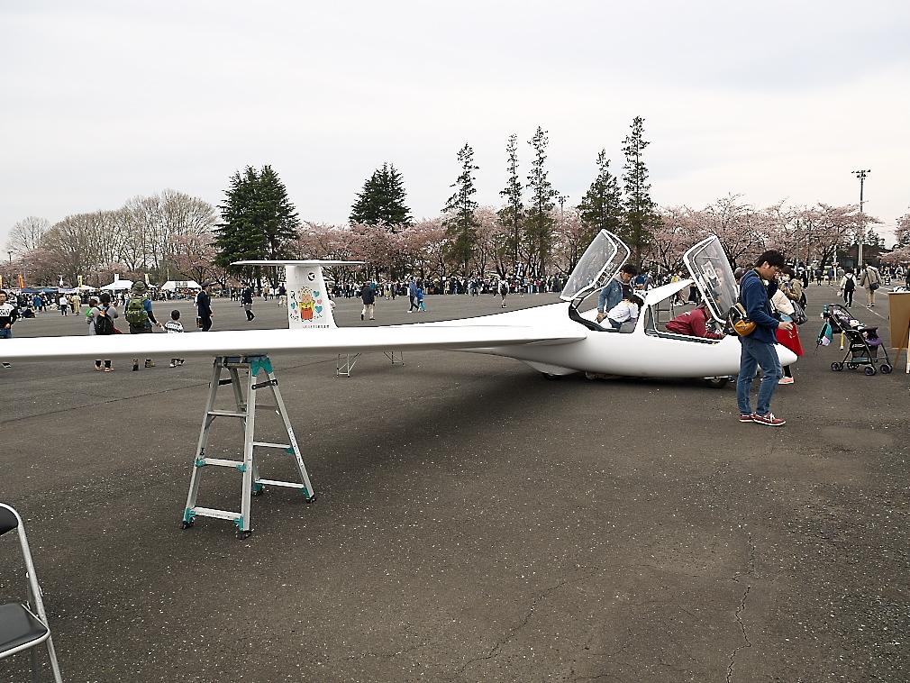 グライダーの展示_1