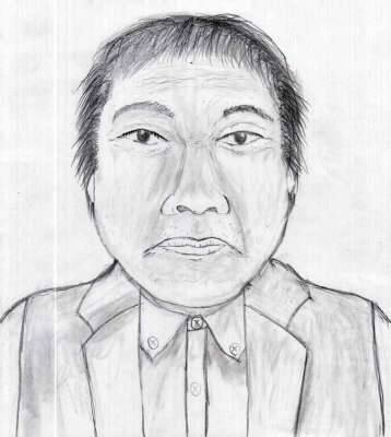 滋賀県警が公開した男性遺体の似顔絵