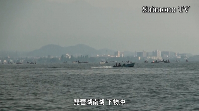 ビワコオープン第1戦 5月に真夏日でも大入り満員の琵琶湖南湖(YouTubeムービー)