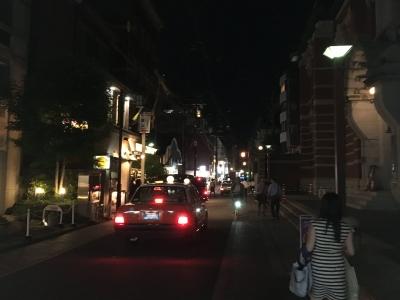 夜の京都三条通