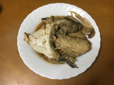 メジロのアラ煮