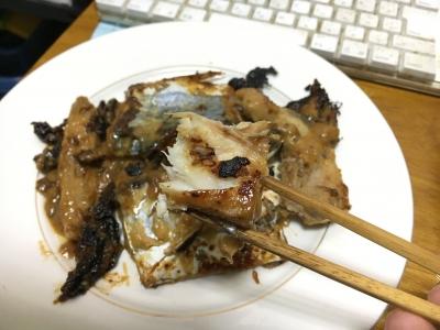 サワラのふっくらした身に白味噌の味がよく浸みて美味しくなってます