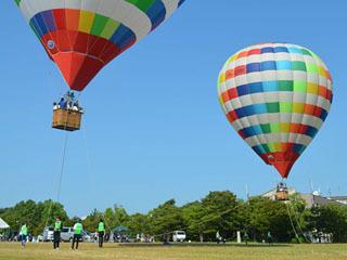 烏丸半島の熱気球フライト体験会