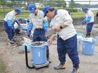 琵琶湖南湖赤野井湾で実施されたプラゴミ調査