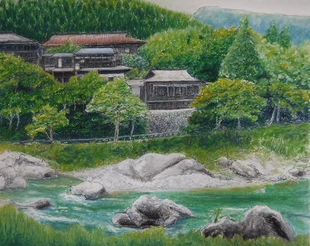 19.69 絵・御岳渓谷、本「水滸伝」19巻 (10)