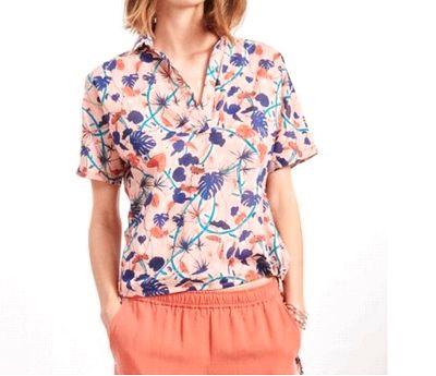 copピンクプリントシャツ1