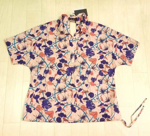 copピンクプリントシャツ2-3