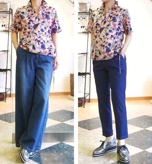 copピンクプリントシャツ4