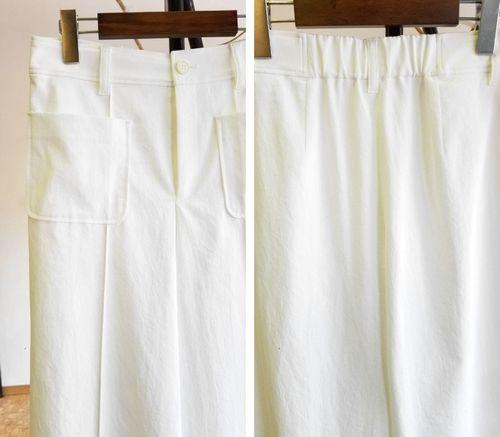 白いワイドパンツ3