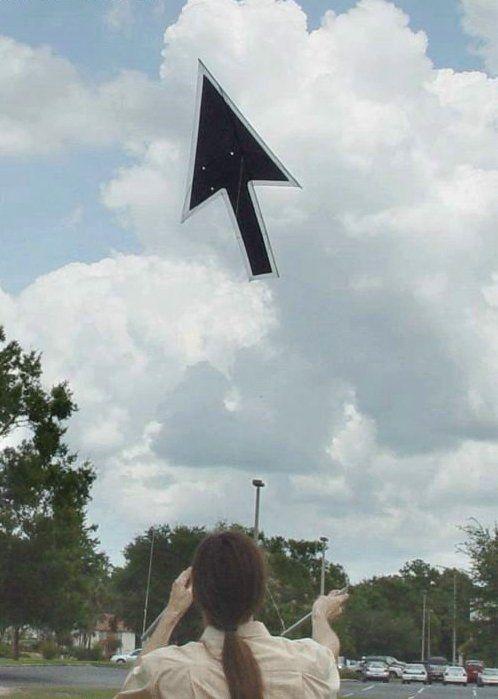 カーソル(ポインタ)凧