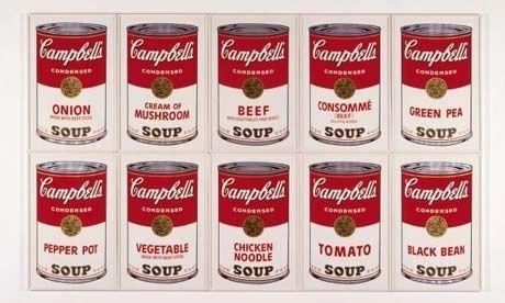 アンディー・ウォーホルのキャンベルスープ缶
