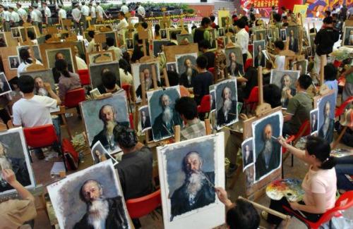 中国・深センの油絵村