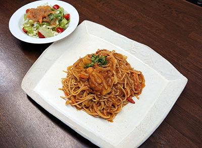 たっぷり野菜のトマトスパゲッティ