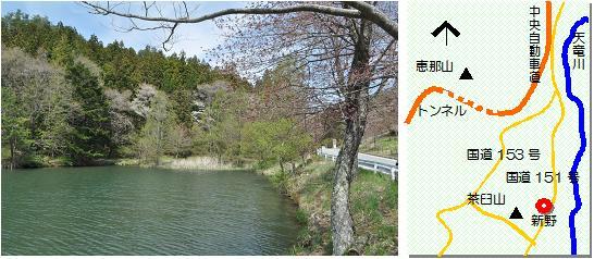 新野のハナノキ マップ