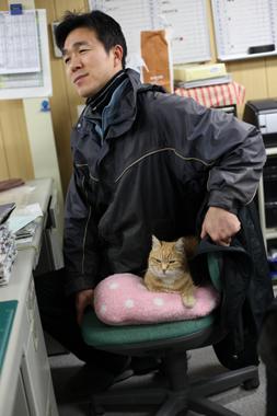ミルク 業務日報 マスコット 猫 豊川 花屋 花夢