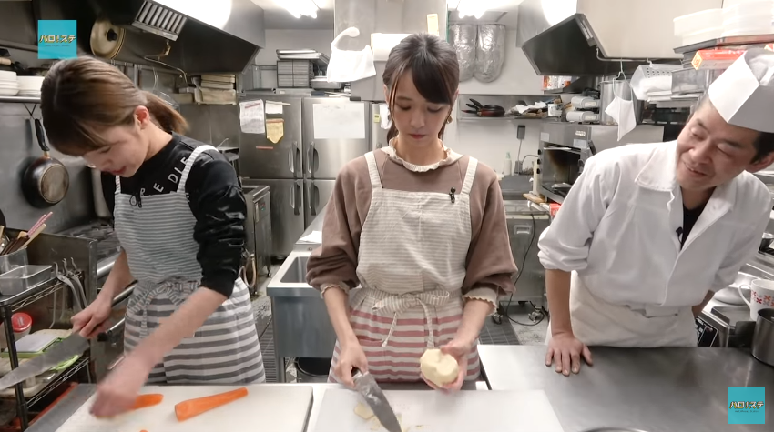 ハロ!ステ#286くろっき料理コーナー01