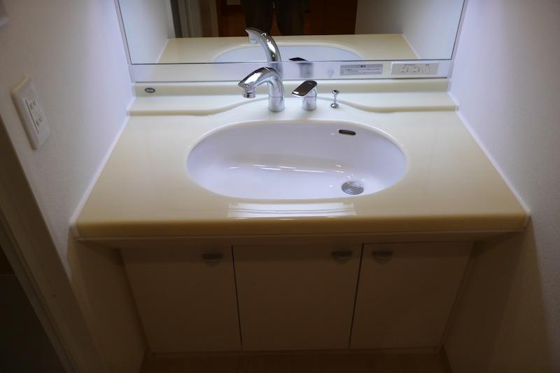 洗面台・人工大理石の再生研磨・磨き後3