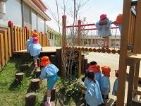 遊具-渡り木